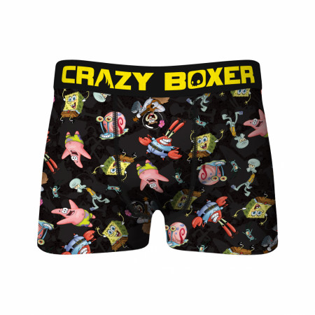 Crazy Boxers SpongeBob SquarePants Characters All Over Boxer Briefs