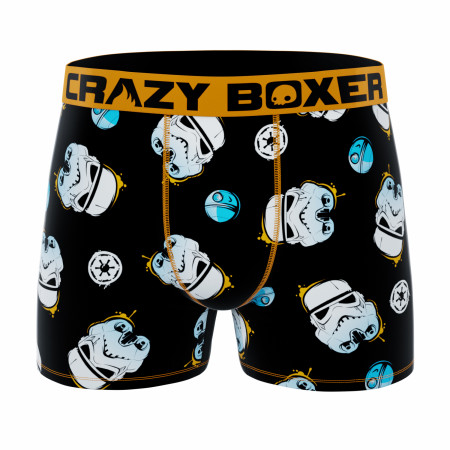 Star Wars Stormtroopers Helmets and Symbols Men's Crazy Boxer Briefs