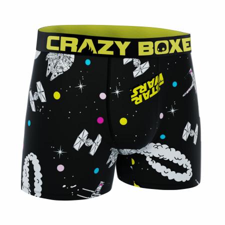 Star Wars Spaceships Battle Men's Crazy Boxer Briefs