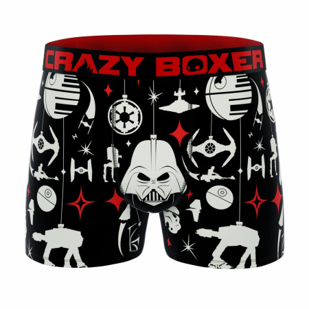 Crazy Boxers Star Wars Holiday Symbols All Over Men's Boxer Briefs