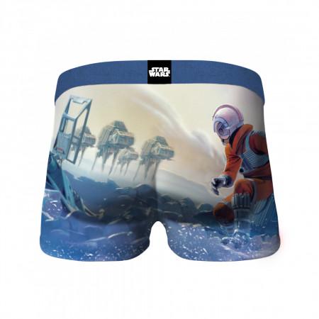 Star Wars Luke on Hoth Scene & Neon Logos 2-Pack of Crazy Boxer Briefs