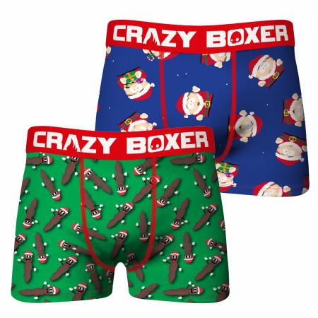 South Park Cartman Santa & Mr. Hankey 2-pack Underwear Boxer Briefs