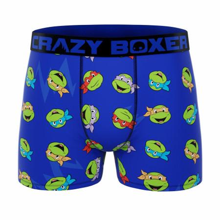 Crazy Boxers Teenage Mutant Ninja Turtles Team Heads Men's Boxer Briefs