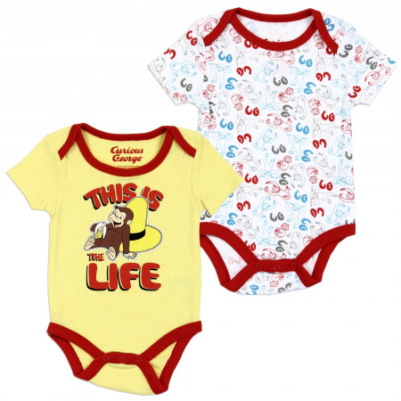 Curious George Infant Snapsuit 2 Pack