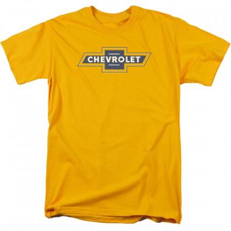 Chevrolet Chevy Blue and Gold Vintage Logo Tshirt
