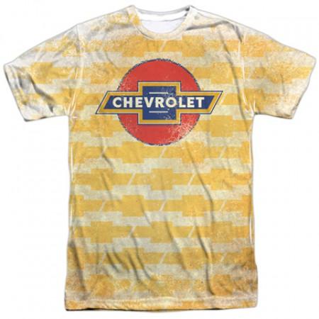 Chevrolet Chevy Repeating Gold Logo Tshirt