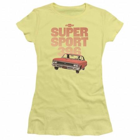 Chevy Super Sport 396 Yellow Juniors T-Shirt
