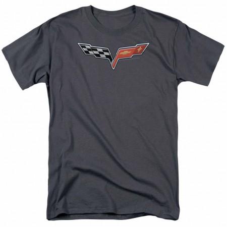 Chevy The Vette Medallion Gray T-Shirt