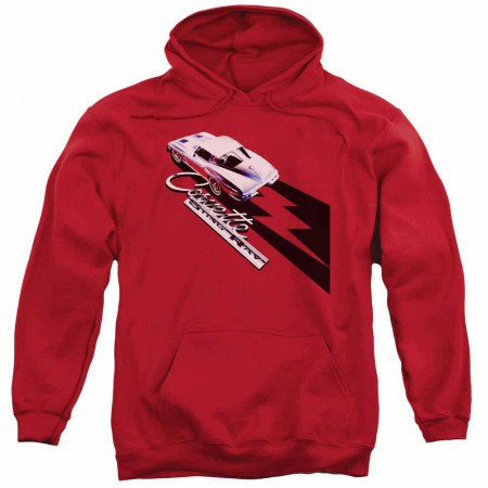 Chevy Split Window Sting Ray Red Pullover Hoodie