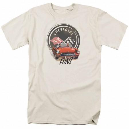 Chevy Vette Fun Beige T-Shirt