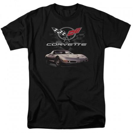 Chevrolet Chevy Corvette Checkered Flag Tshirt