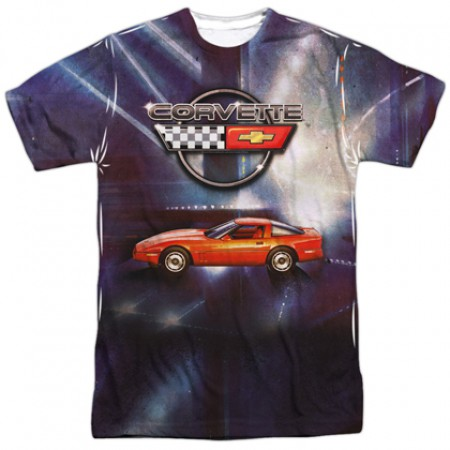 Chevrolet Chevy Corvette Lines Of Light Tshirt