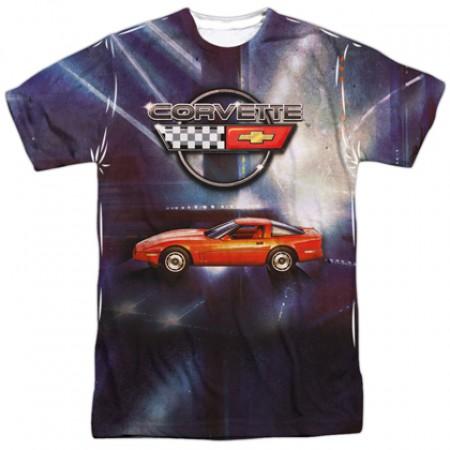Chevrolet Chevy Corvette Lines Of Light Tshirt