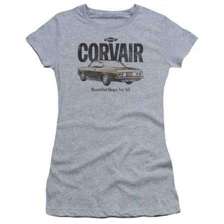 Chevy Retro Corvair Gray Juniors T-Shirt