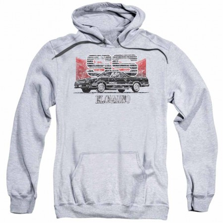 Chevy El Camino Ss Mountains Gray Pullover Hoodie