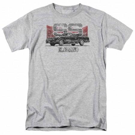 Chevy El Camino Ss Mountains Gray T-Shirt