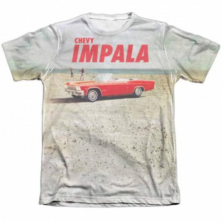 Chevy Beach Impala White Sublimation T-Shirt