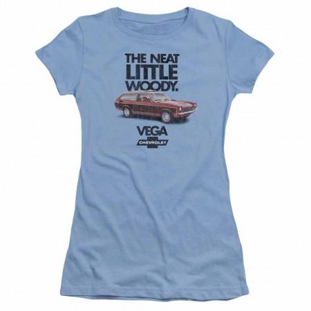 Chevy Vega The Neat Little Woody Blue Juniors T-Shirt