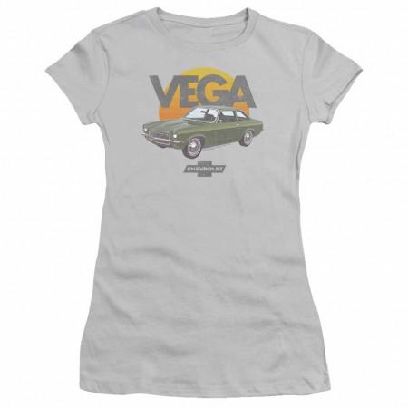 Chevy Vega Sunshine Grey Juniors T-Shirt