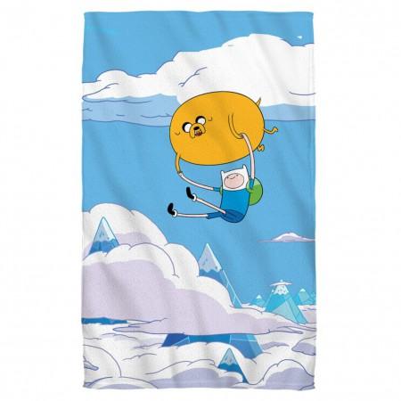 Adventure Time Flying Bros Beach Towel