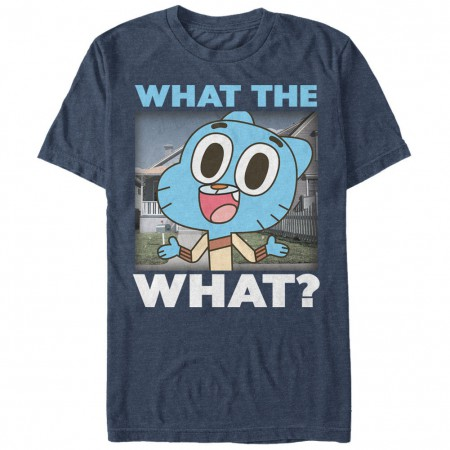 Cartoon Network Gumball What The What Blue T-Shirt