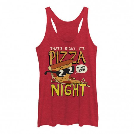 Cartoon Network Uncle Grandpa Pizza Night Red Juniors Tank Top