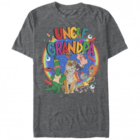 Cartoon Network Uncle Grandpa Cast Gray T-Shirt