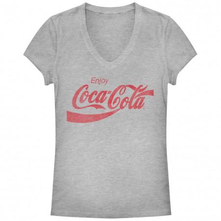Coca-Cola Straight Up Gray Juniors T-Shirt
