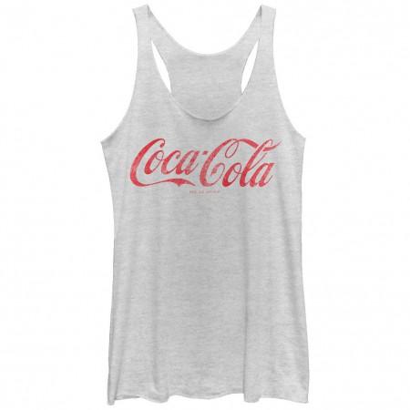 Coca-Cola Cola Cool Gray Juniors Tank Top