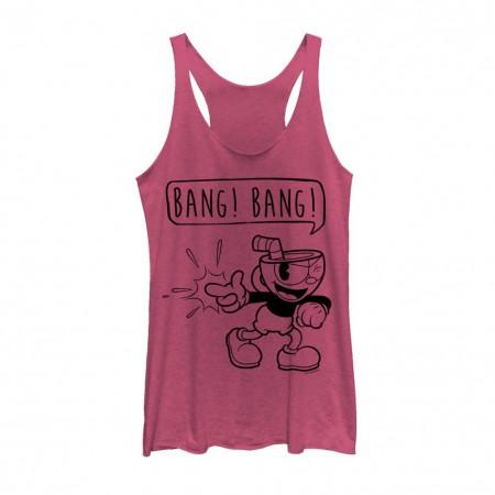 Cuphead Bang Bang Women's Pink Tank Top