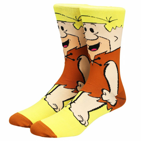 The Flintstones Barney Rubble Character 360 Crew Sock