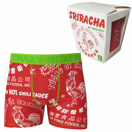 Sriracha Hot Chili Sauce Boxer Briefs in Chinese Take Out Container