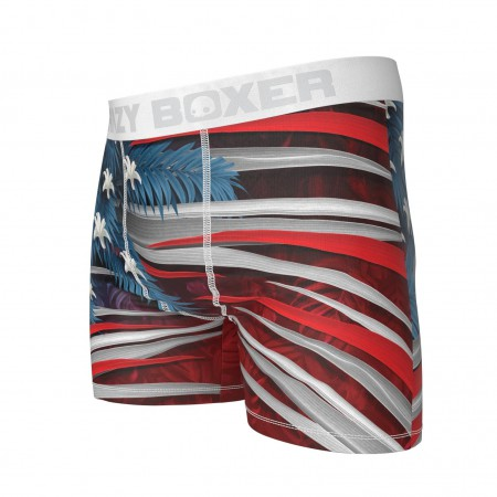 American Flag Jungle Print Boxer Briefs