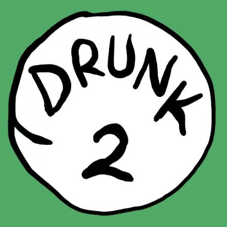 Drunk 2 Bottle Opener Green Graphic TShirt