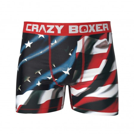American Flag Patriotic Men's Boxer Briefs