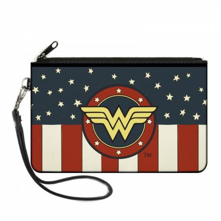 Wonder Woman Patriotic Large Zipper Wallet