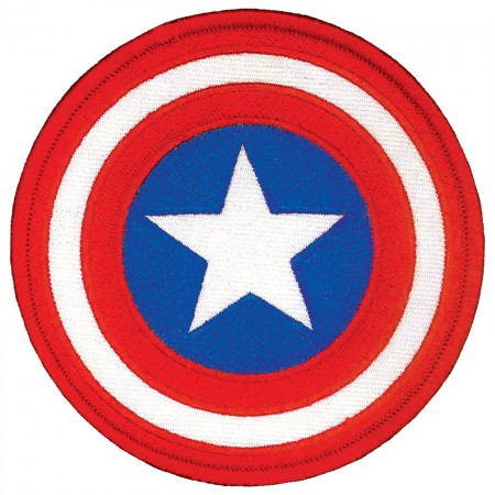 Captain America Comic Logo Iron On Patch