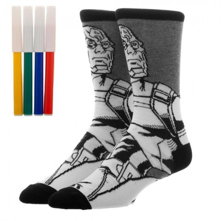 Captain America Superhero Color Yourself Socks