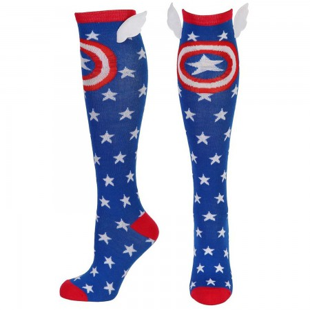 Captain America Blue Winged Socks
