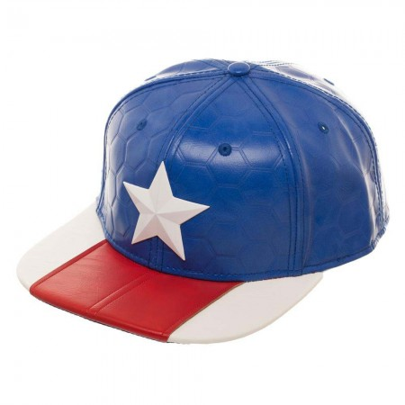 Captain America Suit Up PU Fabric Men's Hat