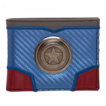 Captain America Carbon Fiber Bifold Wallet