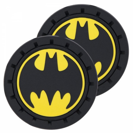 Batman Logo Car Cup Holder Coaster 2-Pack