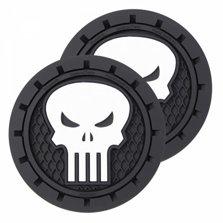 Punisher Car Cup Holder Coaster 2-Pack