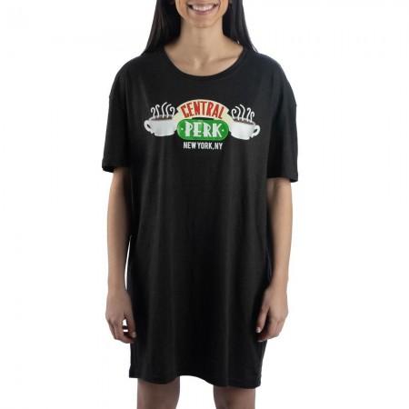 Friends Women's Black Central Perk Night Shirt