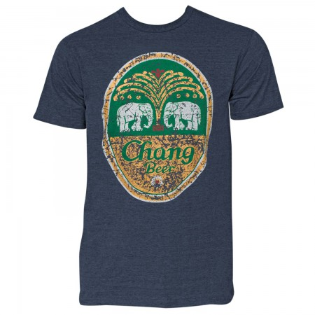 Chang Beer Men's Denim Distressed Logo T-Shirt