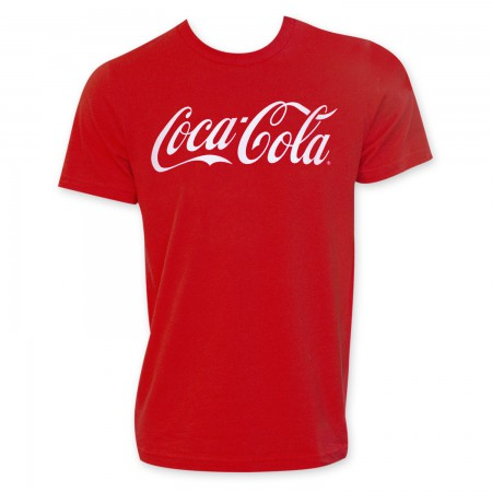 Coca-Cola Men's Red Classic Logo T-Shirt