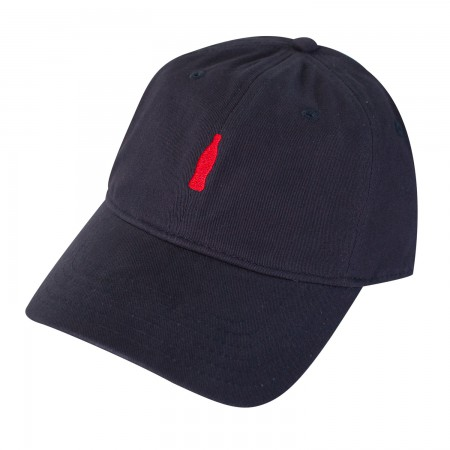 Coca-Cola Bottle Logo Navy Blue Dad Hat