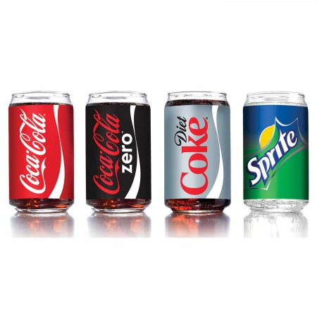 Coca Cola Four Pack Assorted Soda Can Drinking Glasses