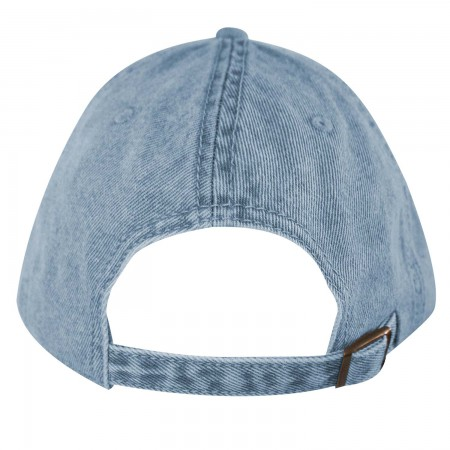 Coca-Cola Coke Distressed Light Denim Adjustable Hat