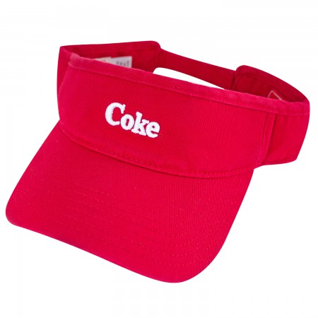 Coca-Cola Coke Red Adjustable Visor Hat